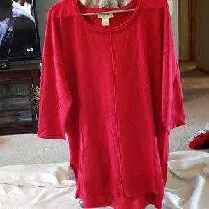 Cynthia Rowley red tunic sweater
